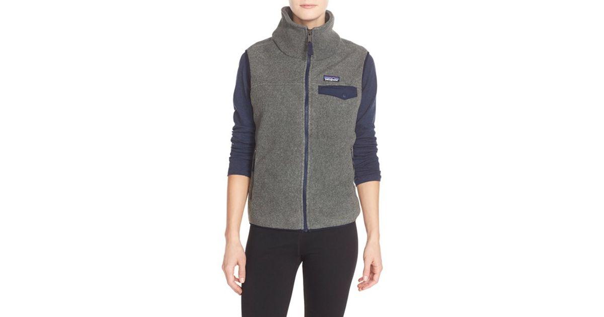 navy blue fleece vest womens