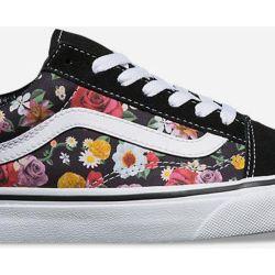 98c528d068 In Save Lux 40 Vans Floral 625 Skool Lyst Womens Black Shoes Old