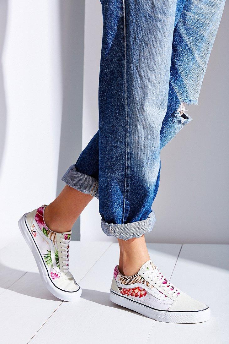 Lyst Vans Hawaiian Floral Old Skool Sneaker In White