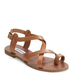 7e062ab0895 Lyst Steve Madden Agathist Leather Strappy Sandals In Brown