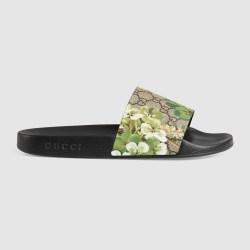 3e12f33b74e Lyst Gucci Blooms Print Sandal