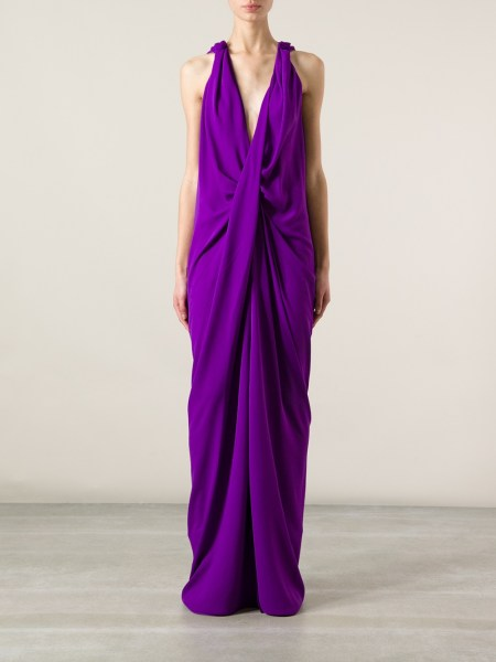 Lyst   Lanvin Halter Neck Dress in Purple Gallery