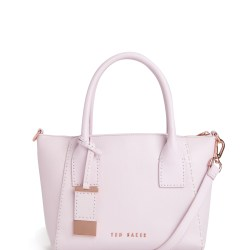 fb419408c Lyst Ted Baker Lauren Small Leather Tote Bag In Pink