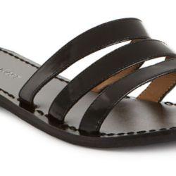 10c3ecfcbed6 Lyst Nine West Fastenup Slide Flat Sandals In Black