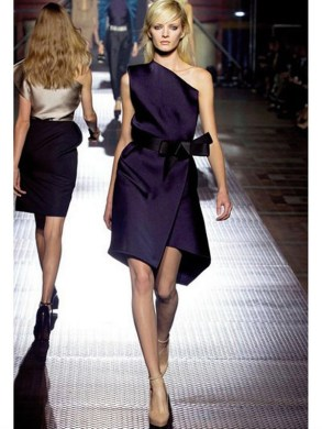 Lanvin Techno Duchesse Dress in Purple   Lyst Gallery