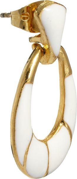 Asos Vintage 80s White Enamel Drop Earrings In White Lyst