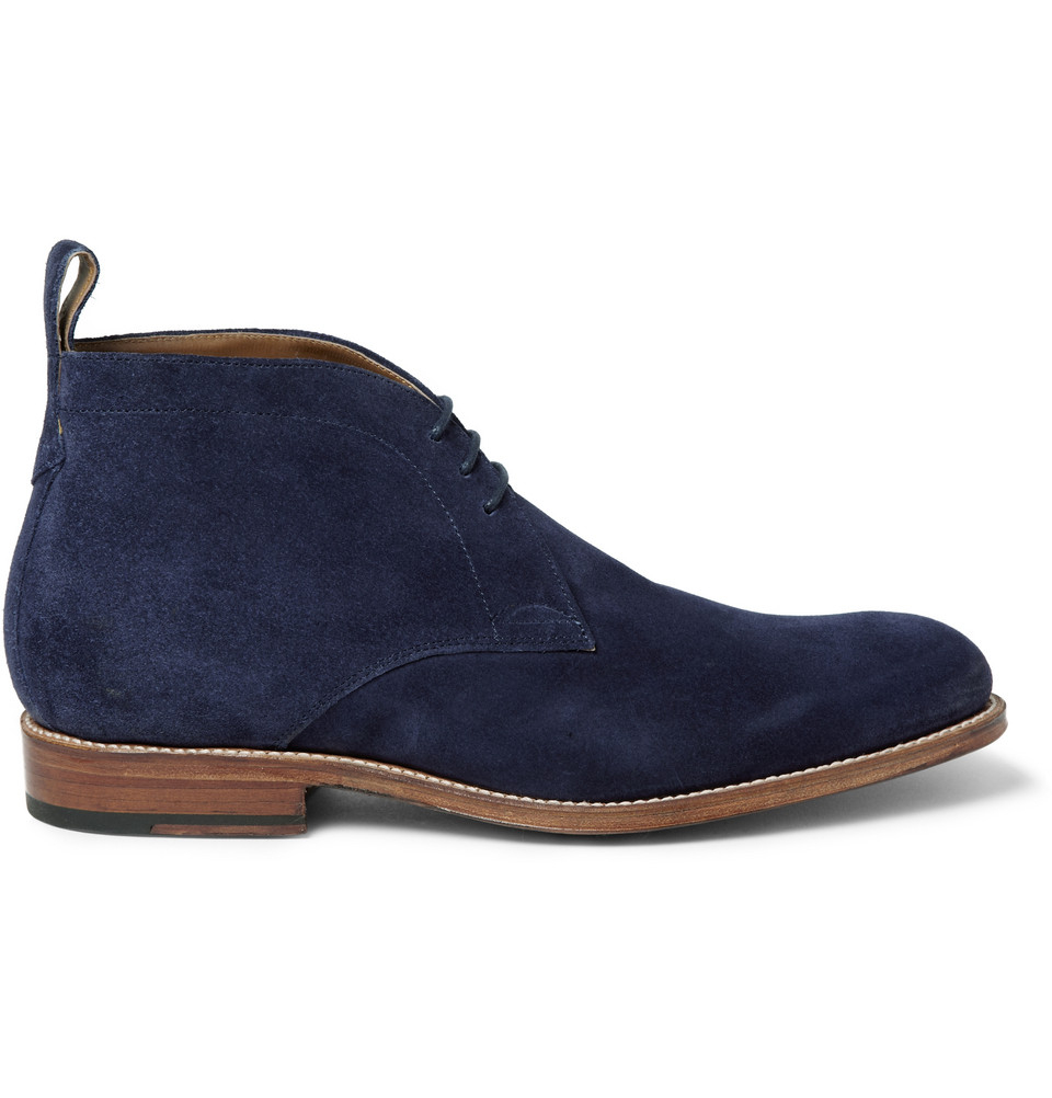 Blue Suede Chukka Boots