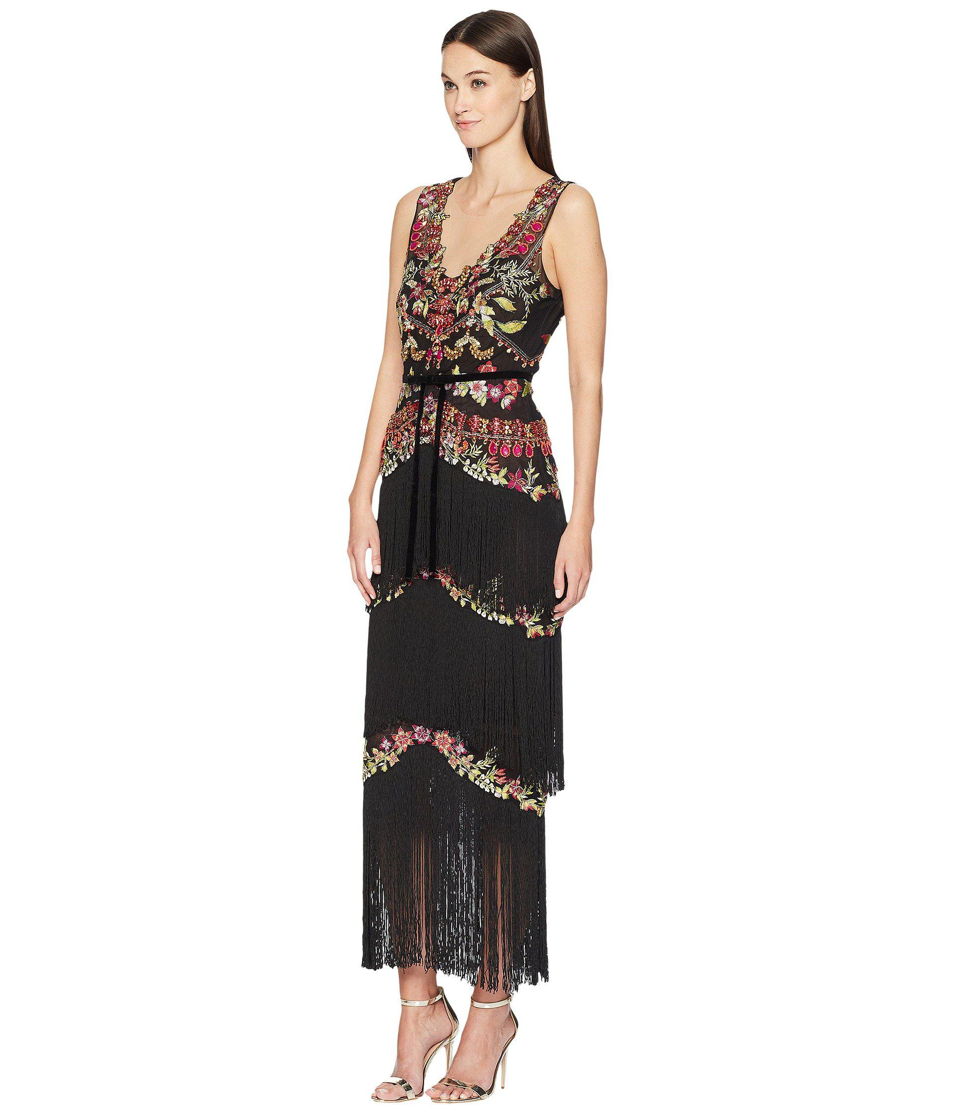 Lyst   Marchesa Notte All Over Beaded Fringe Gown  black  Women s     Lyst   Marchesa Notte All Over Beaded Fringe Gown  black  Women s Dress in  Black