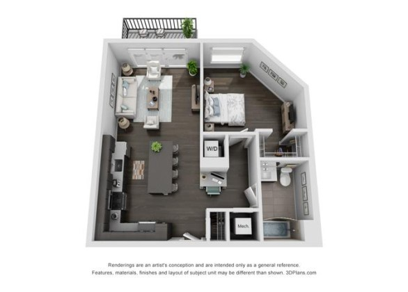 Floor Plans of The Residences of Wilmette in Wilmette  IL 1A Plus Floor Plan 3
