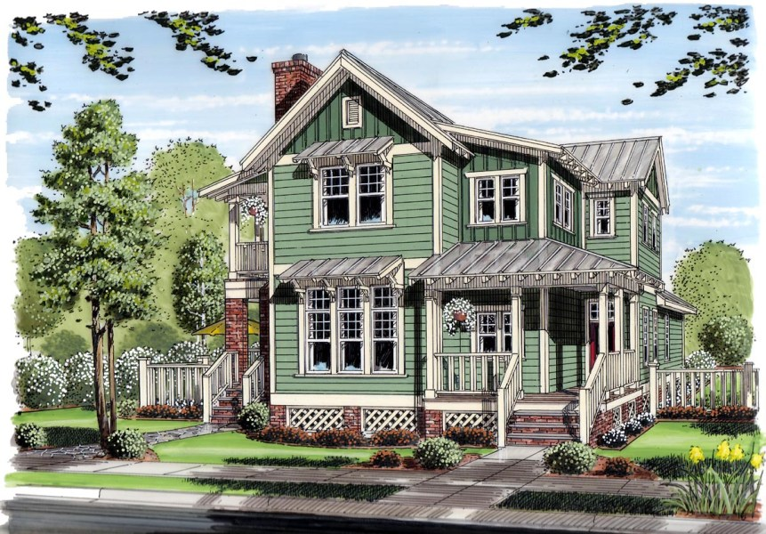 House Plan 30501 at FamilyHomePlans com Click Here to see an even larger picture  Bungalow Coastal Cottage Country  Farmhouse Traditional House Plan