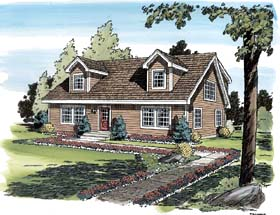 House Plan 34077  Order Code 0907WEB at FamilyHomePlans com Cape Cod Coastal Country Traditional House Plan 34077 Elevation