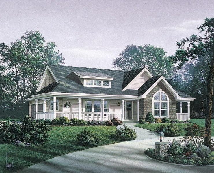 House Plan 87811 at FamilyHomePlans com Click Here to see an even larger picture  Bungalow Country Craftsman Ranch  House Plan