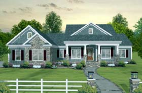 House Plan 93483  Order Code PT101 at FamilyHomePlans com Craftsman European Traditional House Plan 93483 Elevation