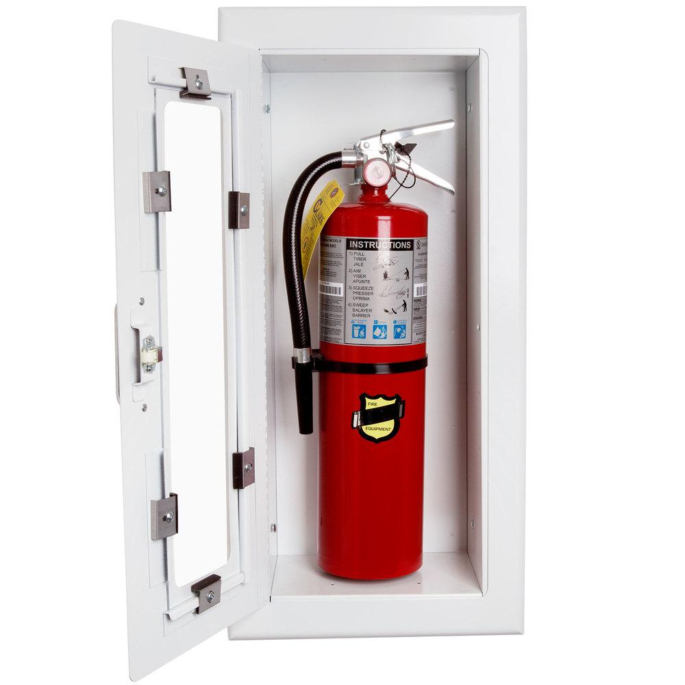 Strike First EL116 ELITE Semi-Recessed Fire Extinguisher ...