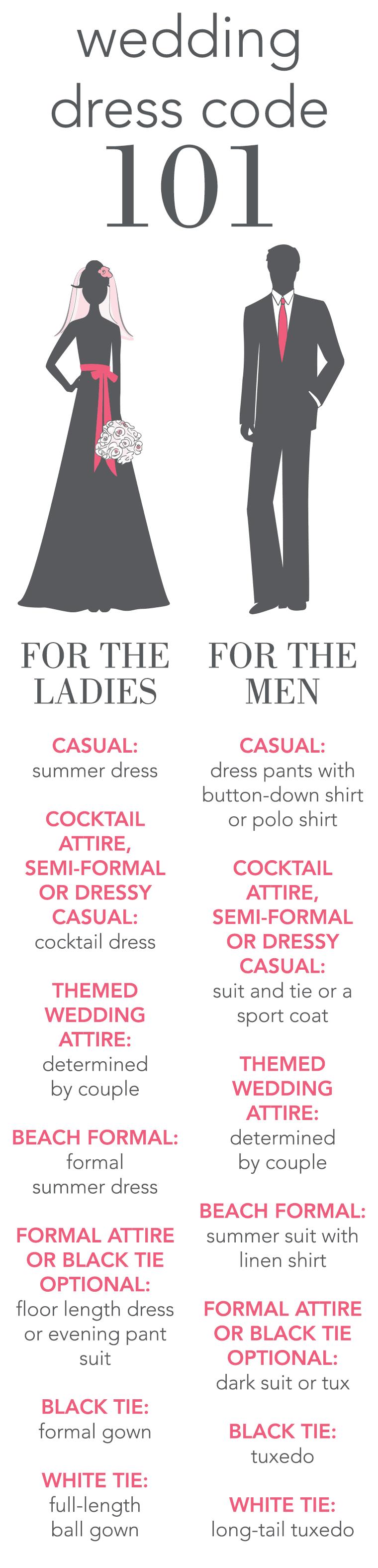 Wedding Attire Dress Code Wording