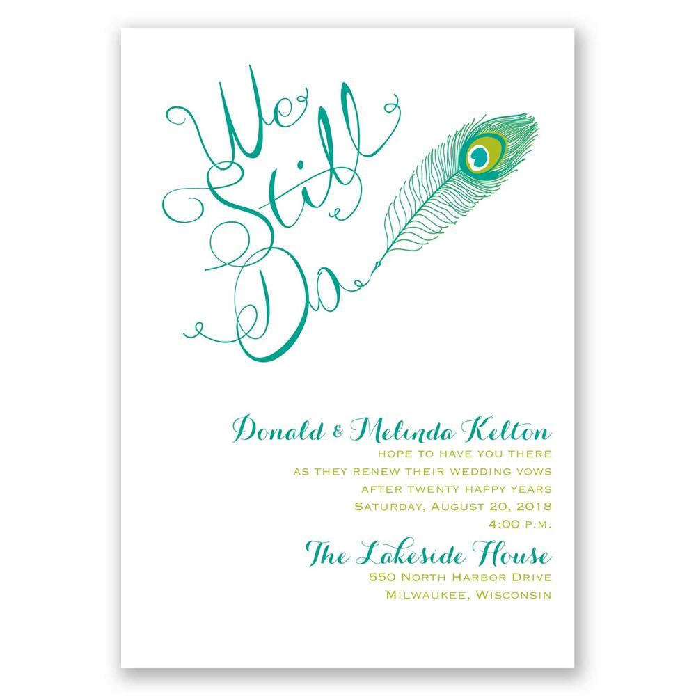 Cheap Wedding Renewal Invitations
