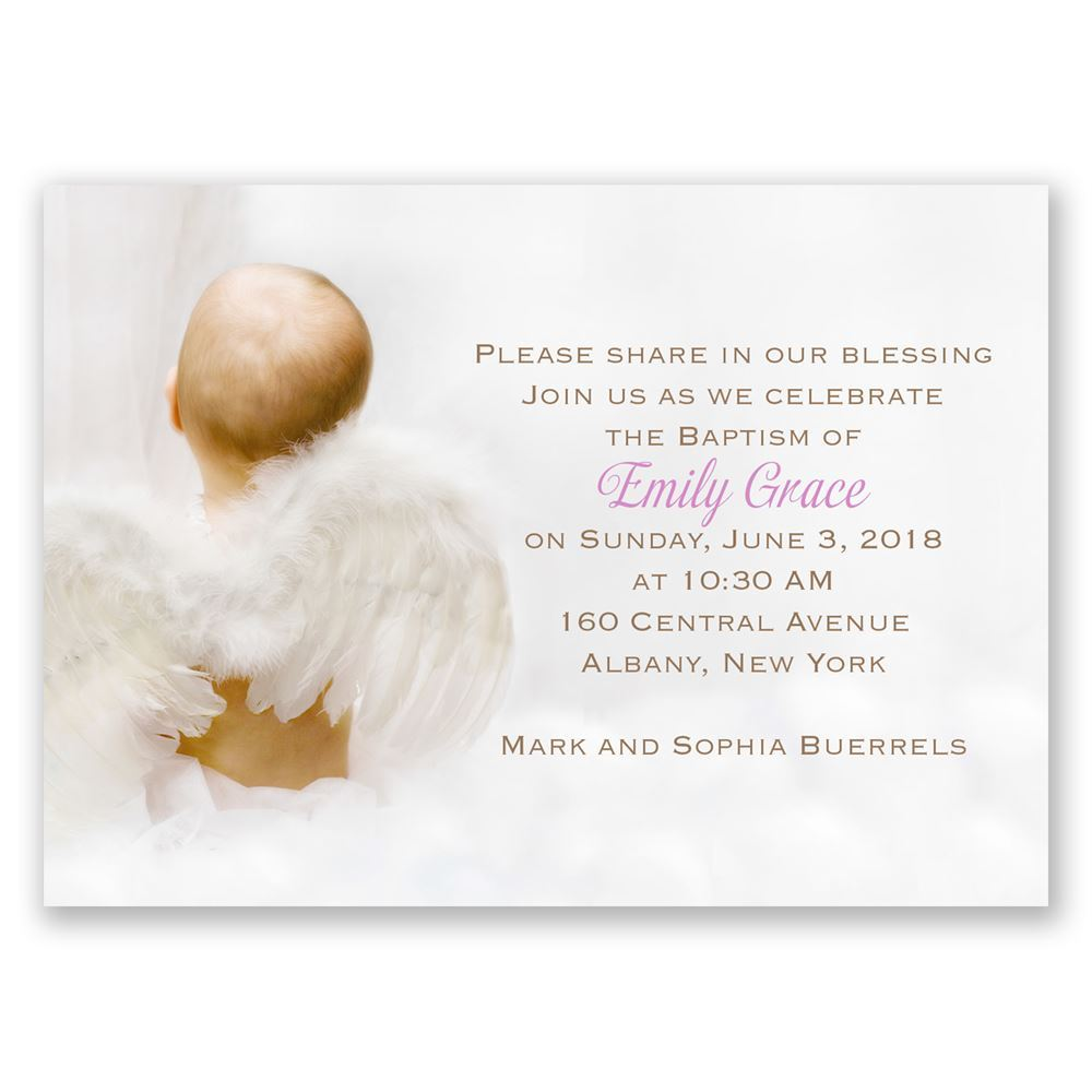 Simple Christening Invitation