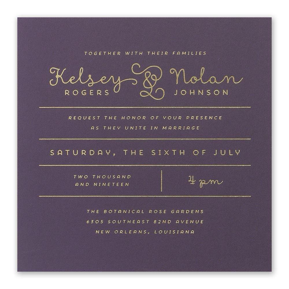 Showcase Your Love Foil Invitation Invitations By Dawn