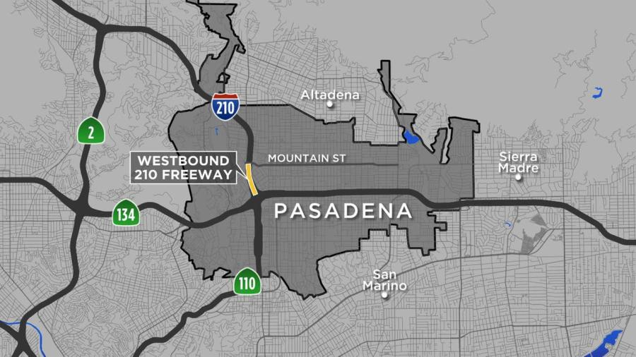 All lanes on stretch of 210 Freeway in Pasadena closed for road     All lanes on stretch of 210 Freeway in Pasadena closed for road repairs