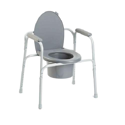 Invacare I Class All In One Gray Coated Steel Commode   9630 Invacare I Class All In One Gray Coated Steel Commode