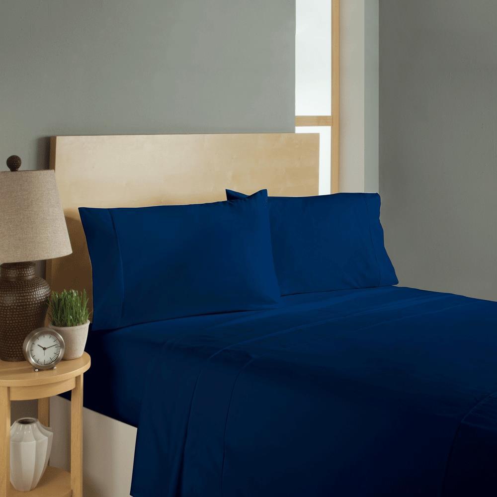 Simple Sheets Sleep Soft Bed Sheets Set - Navy | Bedsheets ...