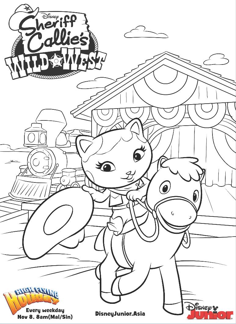 Sheriff Callie Colouring Page Disney Junior Malaysia