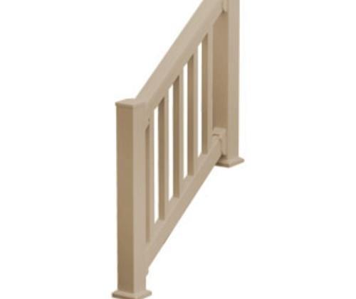 Fypon Quickrail Premium 36 X 120 Tan Synthetic Stair   Outdoor Stair Railing Menards