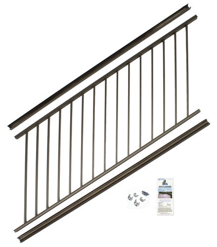 Preassembled Powder Coated Aluminum Stair Panel 36 X 69   Outdoor Stair Railing Menards