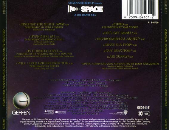 Innerspace Soundtrack 1987 Cd Sniper Reference