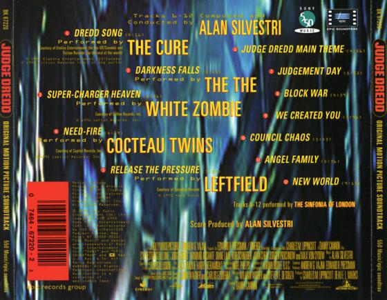 Judge Dredd Soundtrack 1995 Cd Sniper Reference