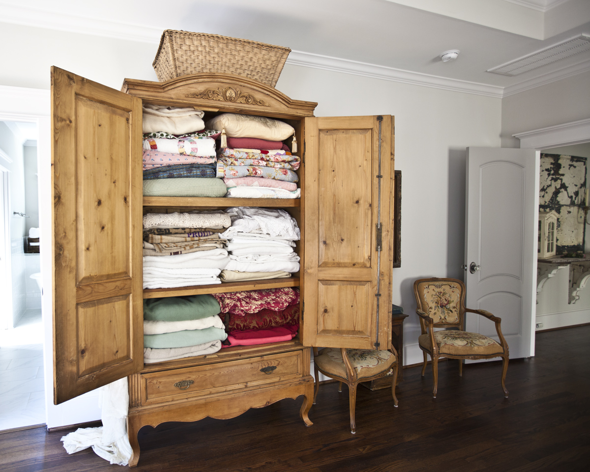 Antique Armoire Turned Linen Closet Cedar Hill Farmhouse