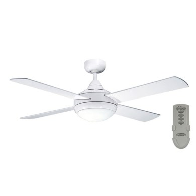 Primo Ceiling Fan With Light and Remote In White 48    Four Seasons Primo Ceiling Fan With Light And Remote     White