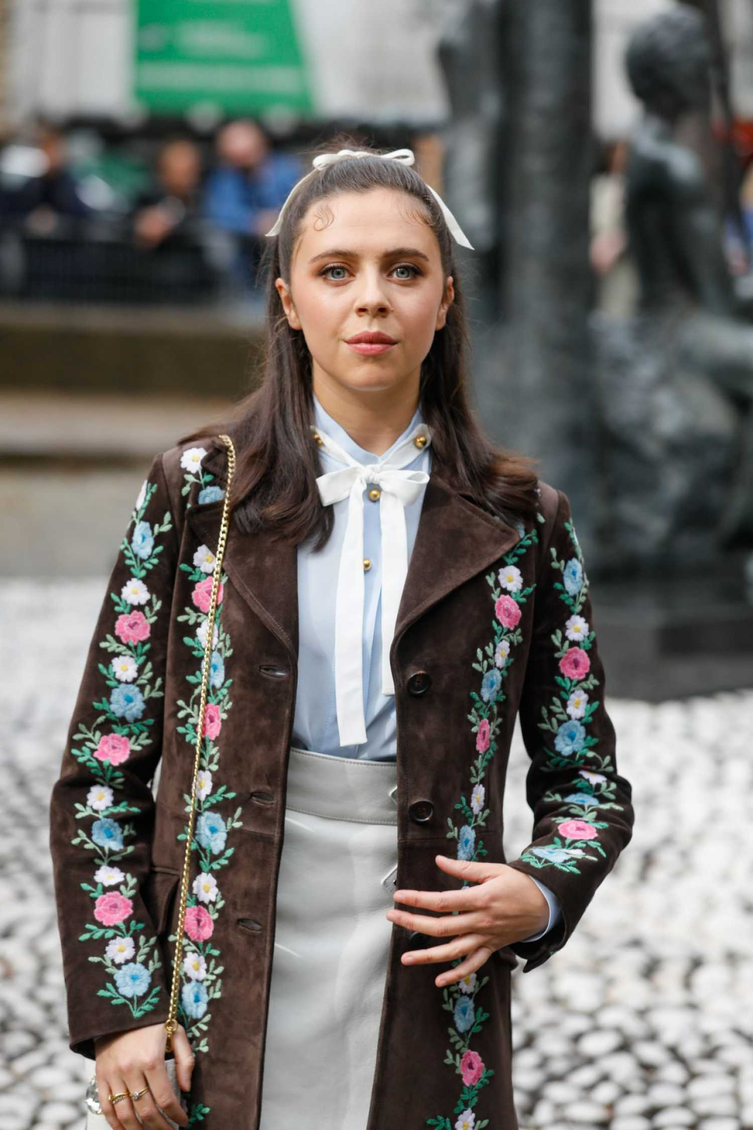 Bel Powley Arrives The Miu Miu Fashion Show During 2019