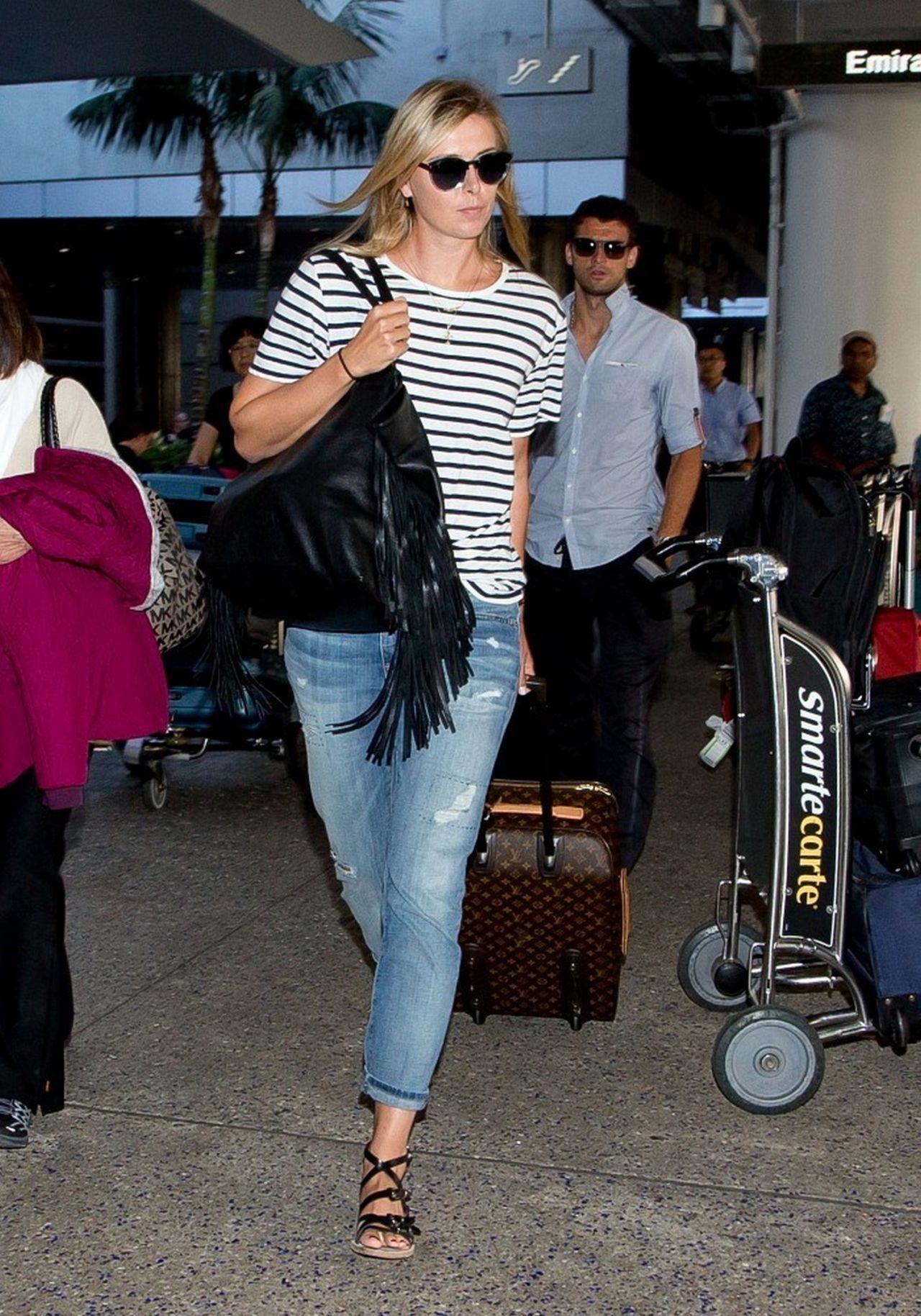 Maria Sharapova Arriving At Lax Airport July 2014
