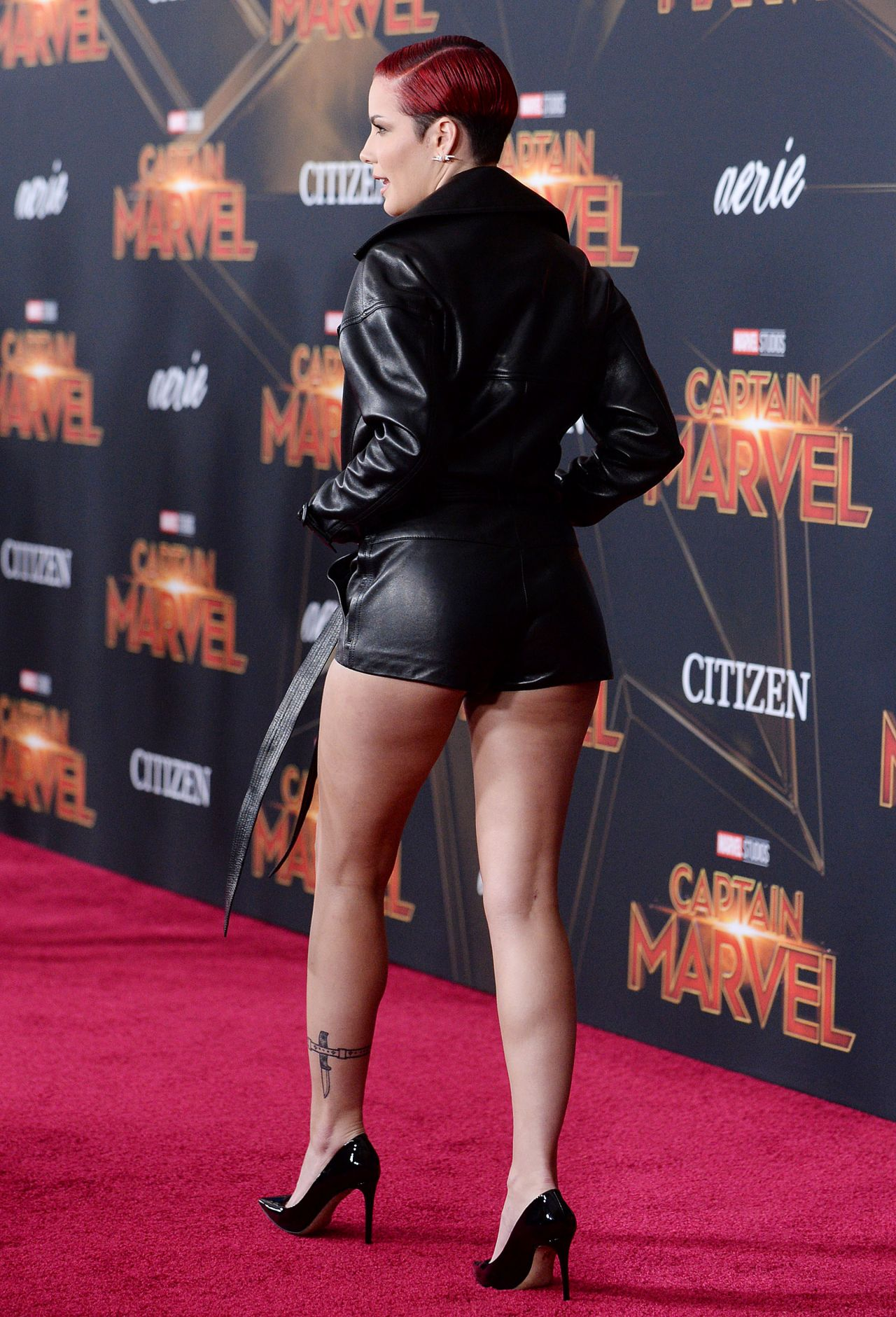 Halsey Captain Marvel Premiere In Hollywood