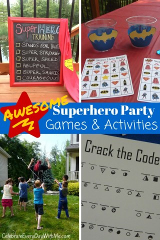 Awesome Superhero Party Games   Celebrate Every Day With Me Superhero Party Games   Activities