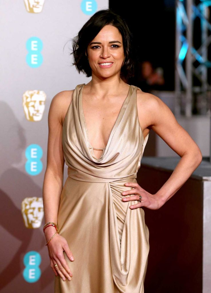 Michelle Rodriguez Attends 2019 Bafta Awards In London 02