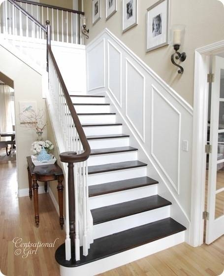 Finished Staircase Centsational Style   Carpet Stairs In The Woods   Wilderness   Open Wooden Stair   Glitter   Country House   Traditional