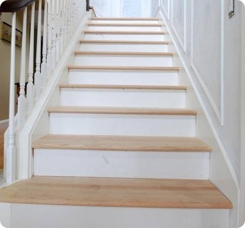 The Risers And The Treads Centsational Style | Installing Hardwood Stair Treads | Stair Stringers | Prefinished Stair Nosing | Staircase Makeover | Laminate | Hardwood Flooring