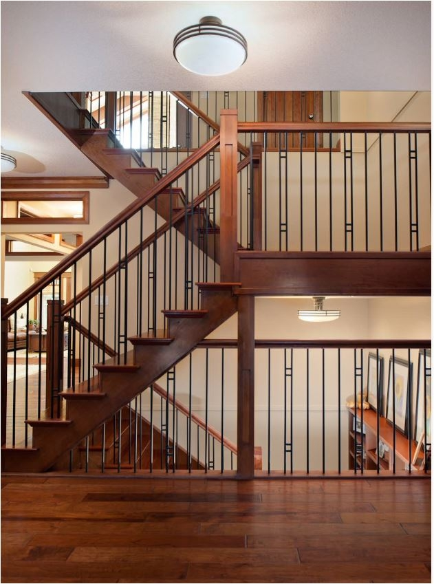 Stunning Stair Railings Centsational Style   Modern Metal Stair Spindles