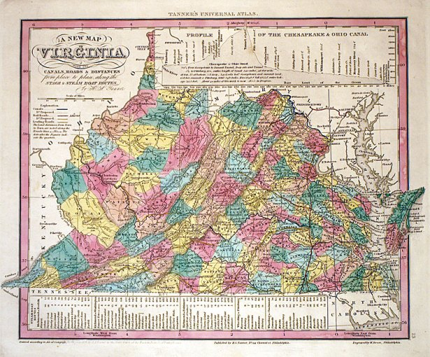 A New Map of Virginia      c 1836   Tanner  M 12556     575 00       A New Map of Virginia      c 1836   Tanner