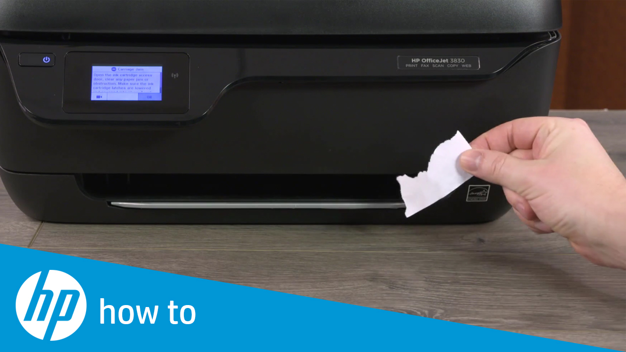 How To Fix A Carriage Jam In The Hp Officejet 3830 Printer
