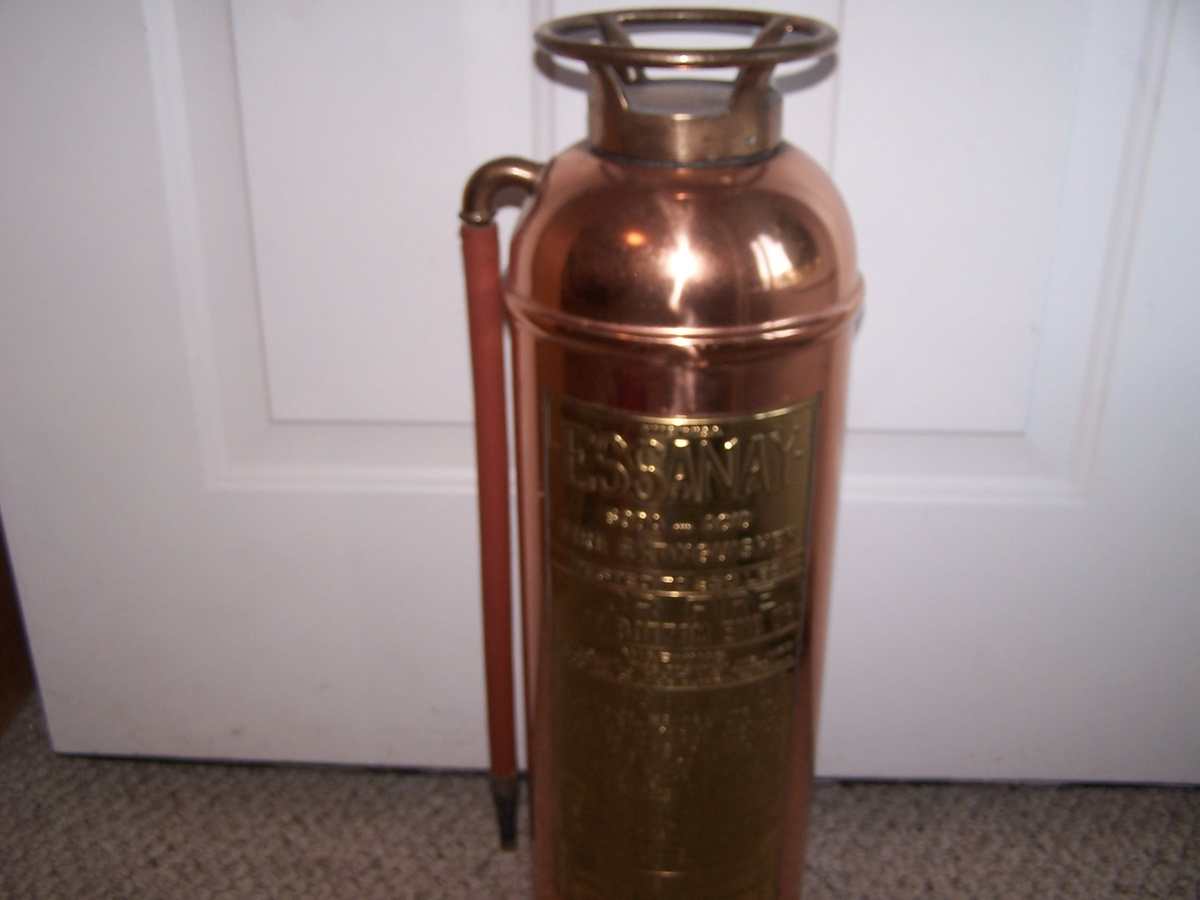 Essany Copper & Brass Fire Extinguisher | Collectors Weekly