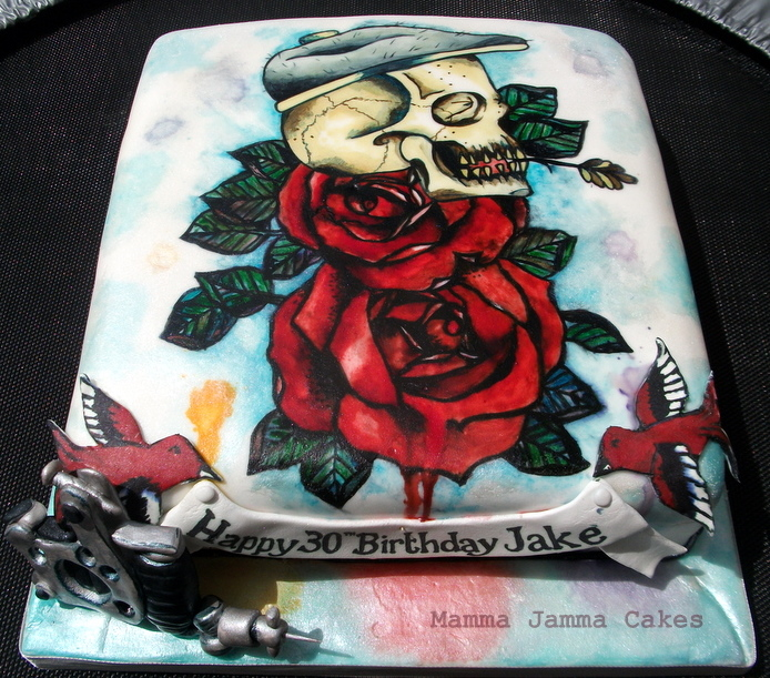 Foodista This Tattoo Cake By Mamma Jamma Cakes