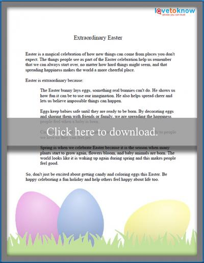 Short Easter Poems Toddlers