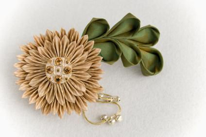 Kanzashi Japanese Folded Fabric Flowers