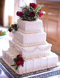 Pictures of Wedding Cakes Square Wedding Cakes