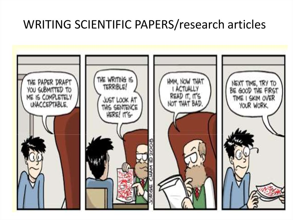 Writing Scientific Papers Research Articles презентация