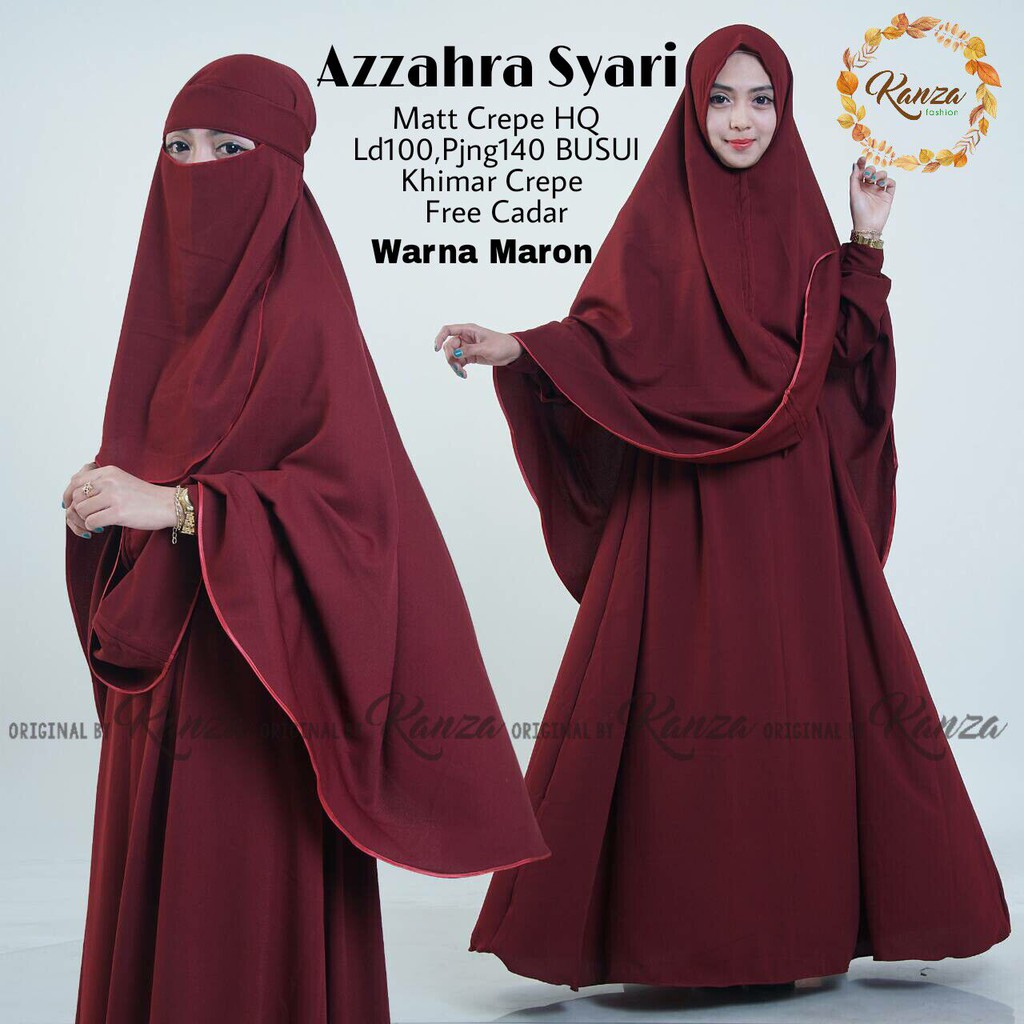 Model Gamis Plus Cadar 1