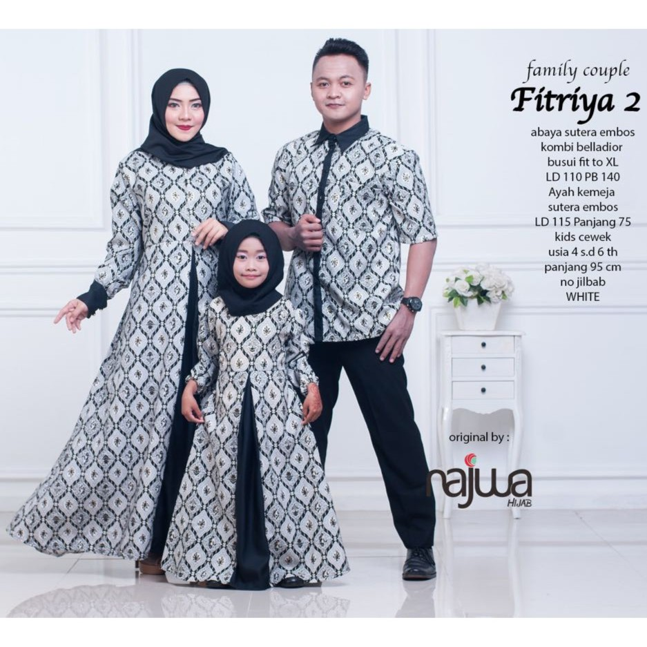 Fitriya  Family Couple Ayah Ibu Anak Gamis Couple Muslim Ori Najwa Batik Couple Keluarga Shopee Indonesia
